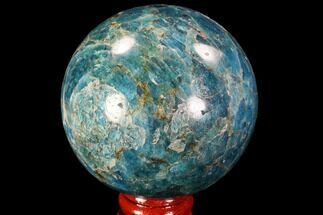 "2.5"" Bright Blue Apatite Sphere - Madagascar For Sale, #90206"