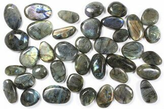 Buy Wholesale Box: Polished Labradorite Pebbles - 1 kg (2.2 lbs) - #90442
