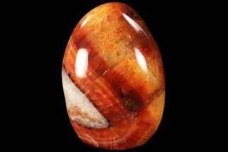 "Buy 4"" Tall, Free-Standing, Carnelian Agate - Excellent Patterning - #90538"
