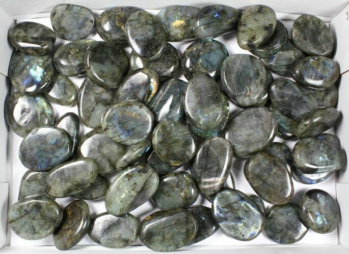 Wholesale Box: Polished Labradorite Pebbles - 5 kg (11 lbs)