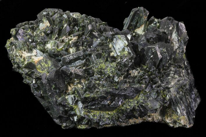 "3.8"" Epidote Crystal Cluster on Actinolite - Pakistan"