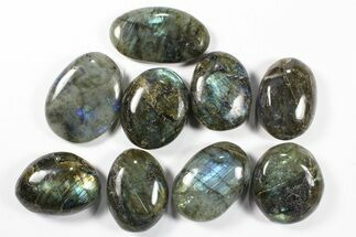 Wholesale Box: Polished Labradorite Pebbles - 1 kg (2.2 lbs) For Sale, #90482