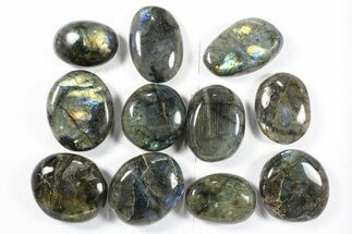 Wholesale Box: Polished Labradorite Pebbles - 1 kg (2.2 lbs) For Sale, #90518