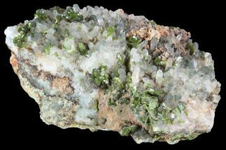 "3.8"" Lustrous Epidote with Quartz Crystals - Morocco For Sale, #91223"