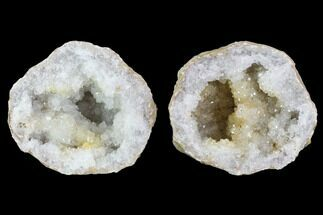 "Buy 3.4"" Keokuk Quartz Geode Pair - Illinois - #91396"