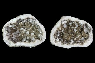 "3.1"" Keokuk Geode with Calcite Crystals - Missouri For Sale, #91400"