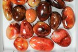 Wholesale Lot: Polished Carnelian Pebbles - 5 kg (11 lbs) - #91450-1