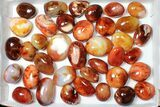 Wholesale Lot: Polished Carnelian Pebbles - 5 kg (11 lbs) - #91445-2