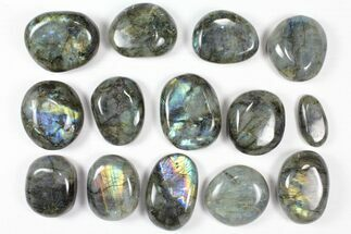 Buy Wholesale Box: Polished Labradorite Pebbles - 5 kg (11 lbs) - #90661