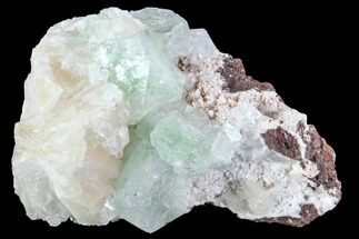 "3.7"" Apophyllite Crystals With Stilbite - India For Sale, #92249"