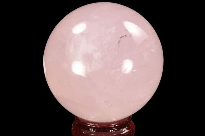 "3"" Polished Rose Quartz Sphere - Madagascar"