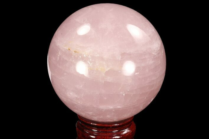 "2.9"" Polished Rose Quartz Sphere - Madagascar"