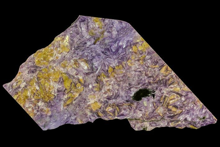 "8.4"" Beautiful, Purple, Polished Charoite Slab - Siberia"
