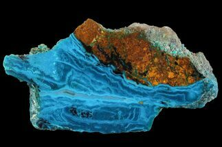 "3"" Polished Chrysocolla Slab - Bagdad Mine, Arizona For Sale, #93509"