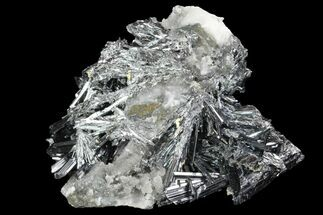 "3.5"" Metallic Stibnite Crystal Cluster - China For Sale, #93680"