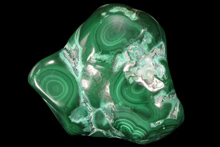 "2.5"" Polished Malachite and Chrysocolla - Congo"
