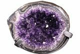 "9.6"" Amethyst ""Jewelry Box"" Geode On Stand - Gorgeous - #94323-2"
