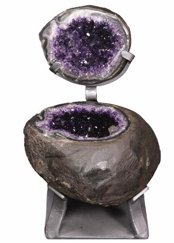 "9.6"" Amethyst ""Jewelry Box"" Geode On Stand - Gorgeous"