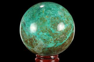 "Buy 2.55"" Polished Chrysocolla Sphere - Peru - #95662"