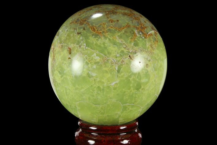 "2.8"" Polished Green Opal Sphere - Madagascar"