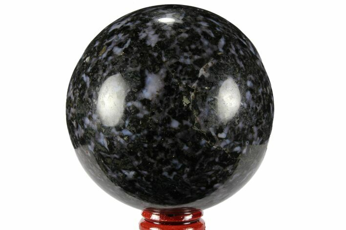 "3"" Polished, Indigo Gabbro Sphere - Madagascar"