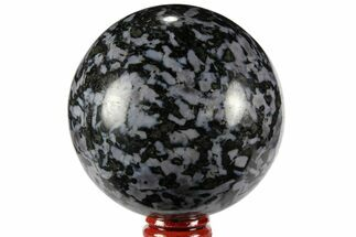 "3"" Polished, Indigo Gabbro Sphere - Madagascar For Sale, #96014"