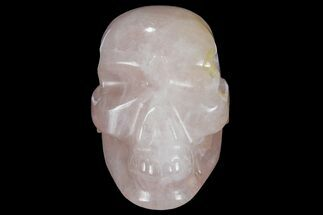 "Buy 3.2"" Polished Brazilian Rose Quartz Crystal Skull - #95557"