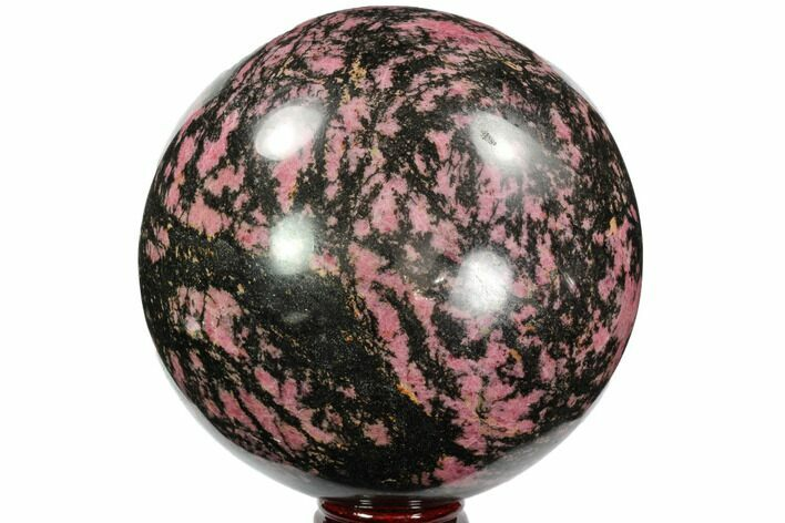 "Huge, 6.4"" Rhodonite Sphere - Madagascar"