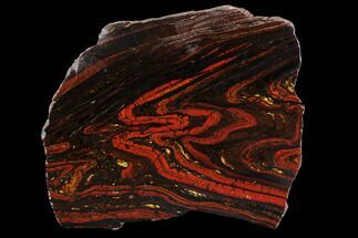 Tiger Iron Stromatolite - Fossils For Sale - #96228