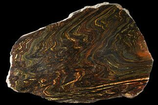 Tiger Iron Stromatolite - Fossils For Sale - #95916