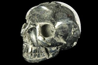 "2.9"" Polished Pyrite Skull With Pyritohedral Crystals - Peru For Sale, #96323"