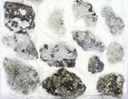 Wholesale Flat - Pyrite, Galena, Quartz, Etc From Peru - 23 Pieces - #97059-1