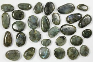 Wholesale Box: Polished Labradorite Pebbles - 1 kg (2.2 lbs) For Sale, #90617