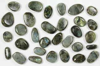 Buy Wholesale Box: Polished Labradorite Pebbles - 1 kg (2.2 lbs) - #90622