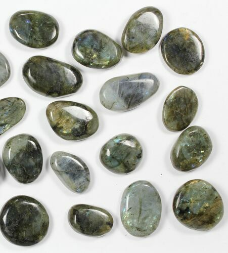 Lot: Polished Labradorite Pebbles - 1 kg (2.2 lbs)