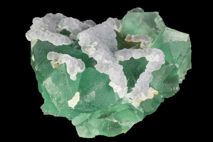 "2.1"" Green & Purple Fluorite Crystal Cluster - China"