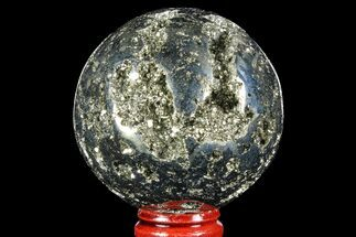 "2.3"" Polished Pyrite Sphere - Peru For Sale, #97991"
