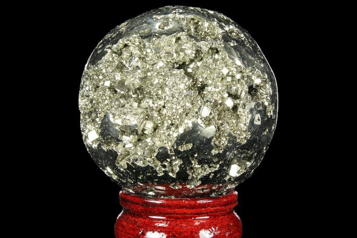 "2.45"" Polished Pyrite Sphere - Peru"