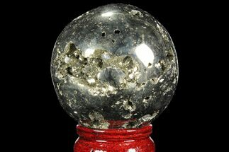 "Buy 2.45"" Polished Pyrite Sphere - Peru - #98005"