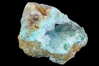 "1.8"" Quartz on Chrysocolla, Malachite & Calcite - Peru For Sale, #98108"