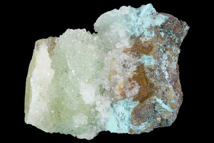 "1.65"" Quartz on Chrysocolla & Calcite - Peru"