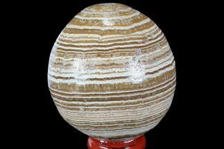 "2.2"" Polished, Banded Aragonite Egg - Morocco For Sale, #98450"