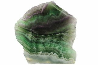 "5.4"" Polished Green & Purple Fluorite Slab - China For Sale, #98606"