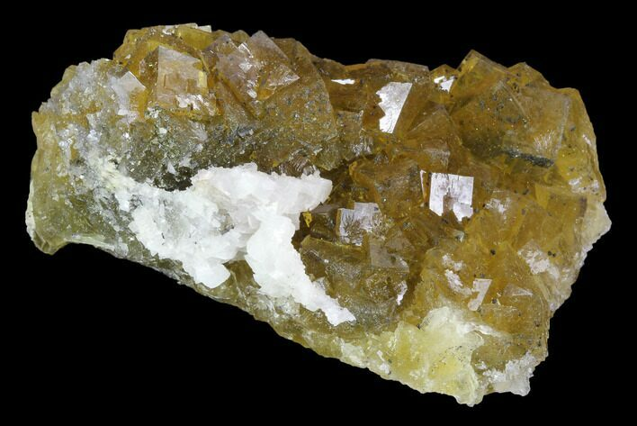 "2.6"" Yellow, Cubic Fluorite Crystal Cluster with Dolomite - Spain"