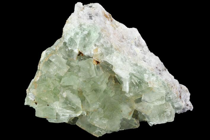 "2.9"" Blue-Green, Cubic Fluorite Crystal Cluster - Morocco"