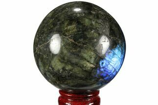 "Buy 3.3"" Flashy, Polished Labradorite Sphere - Great Color Play - #99388"