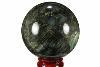 "Buy 3.25"" Flashy, Polished Labradorite Sphere - Great Color Play - #99391"