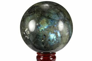 "4.2"" Flashy, Polished Labradorite Sphere - Great Color Play For Sale, #99395"