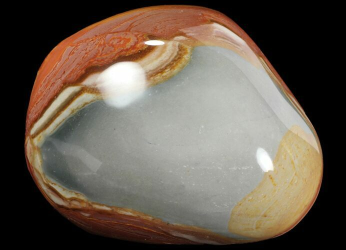 "3.3"" Polished Polychrome Jasper - Madagascar"