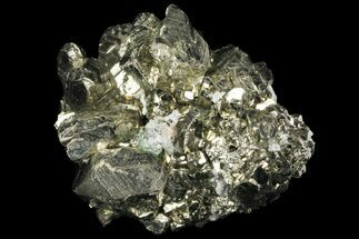 "Buy 2.9"" Gleaming Pyrite Cluster With Fluorite - Peru - #99133"